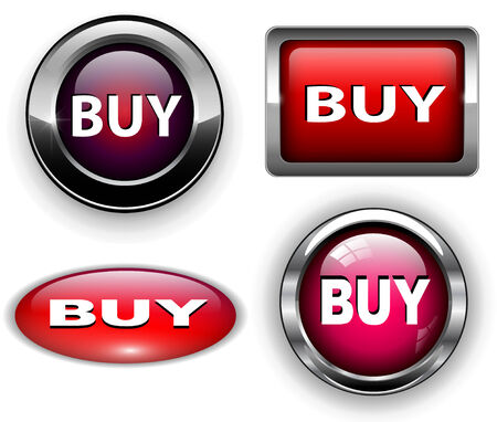 Buy icons buttons set,   illustration. Vector