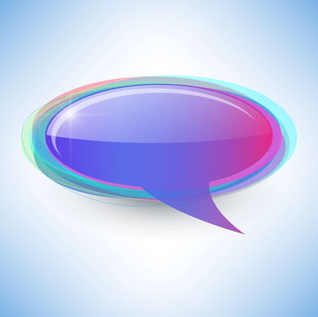 speech bubble abstract background. Vector