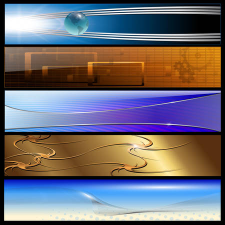 Banners, headers internet backgrounds  Vector