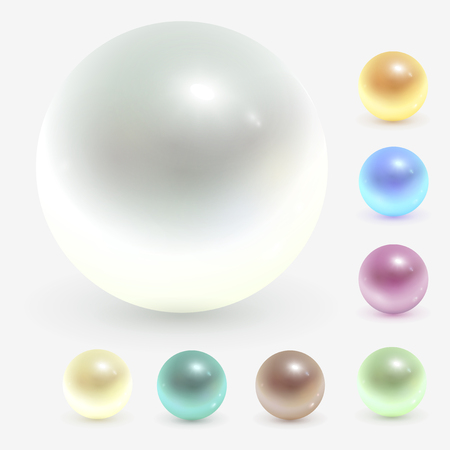 Pearls, realistic illustration.
