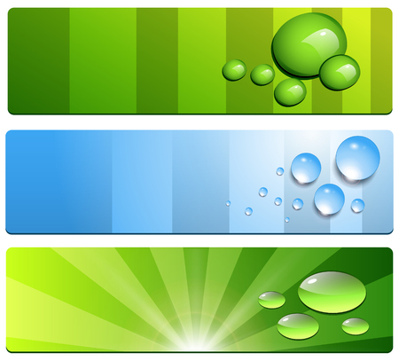 Banners collection, website backgrounds. Stock Vector - 8458216