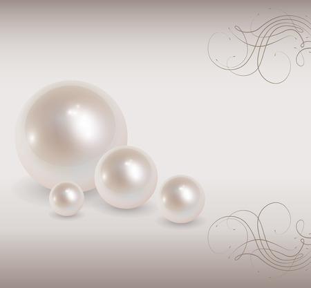 perlas: Fondo de amor con perlas, rom�nticas y elegantes