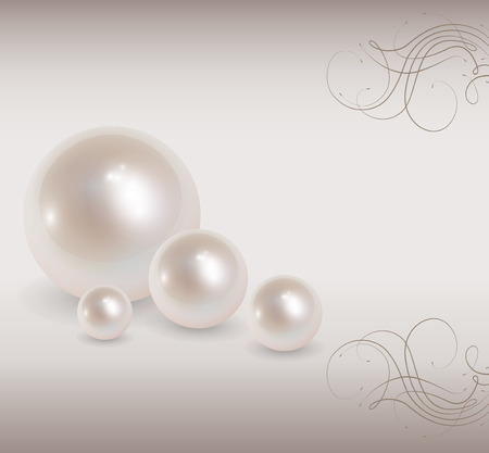 jewelry design: Love background with pearls, romantic and elegant Illustration
