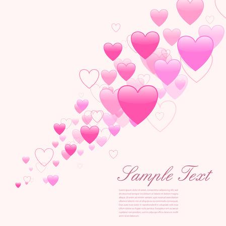 uitnodigen: Liefde achtergrond met vele harten Stock Illustratie