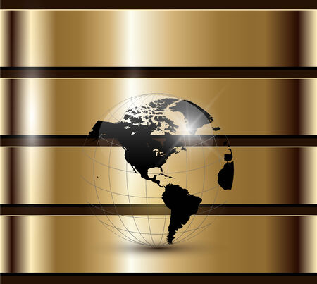 golden globe: Business background gold Illustration