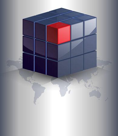 red cube: Sfondo di affari elegante con cubi 3d