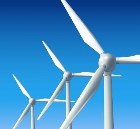 windmills: Concepto de energ�a limpia de fondo abstracto  Vectores