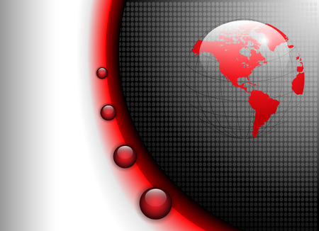 business background glowing red and grey, vector. Illustration
