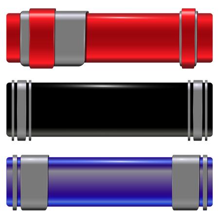 Banners modern metallic set, vector. Vector