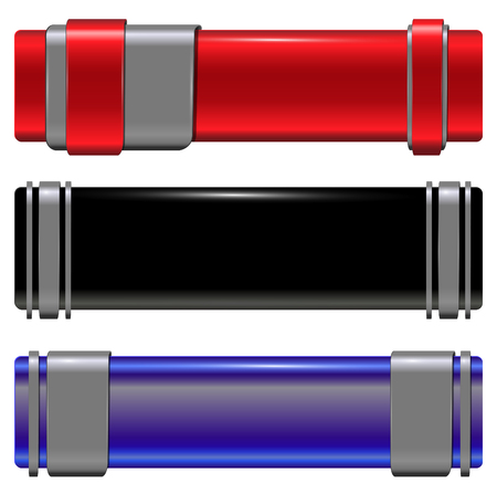 Banners modern metallic set, vector. Stock Vector - 8621392