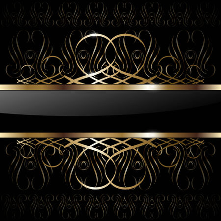 swirly: Abstract background luxury gold,  illustration. Illustration