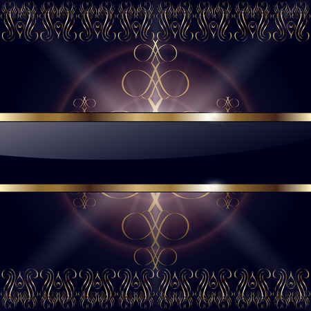 Abstract background gold on black,   illustration. Stock Vector - 8656357