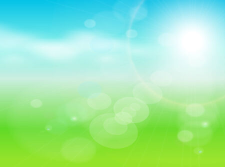 abstract background green, light and sunny   Stock Vector - 8656353