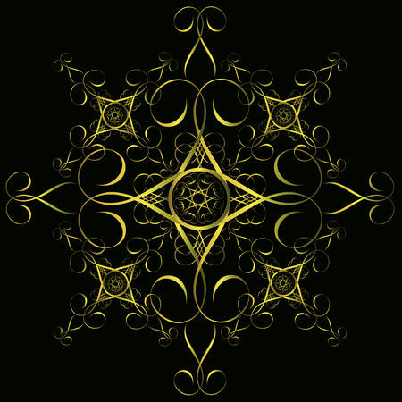 Seamless gold ornament, vintage style design background Vector