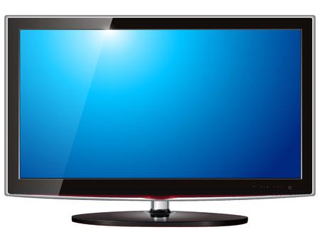 TV płaski ekran lcd, osocza realistyczne ilustracji.