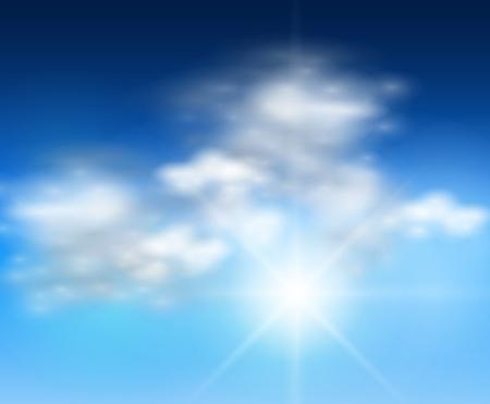 cumulus cloud: clouds background realistic   illustration. Illustration