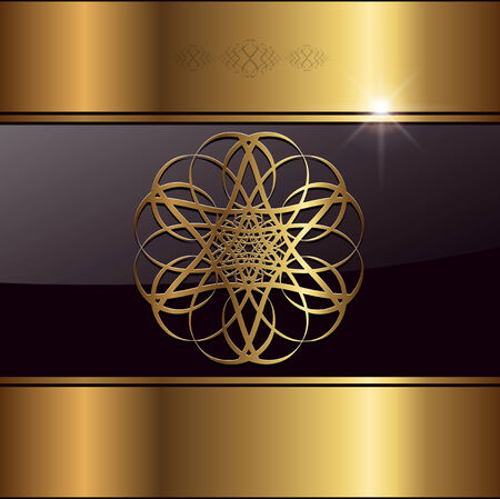 elegance: Abstract background  gold,  illustration.