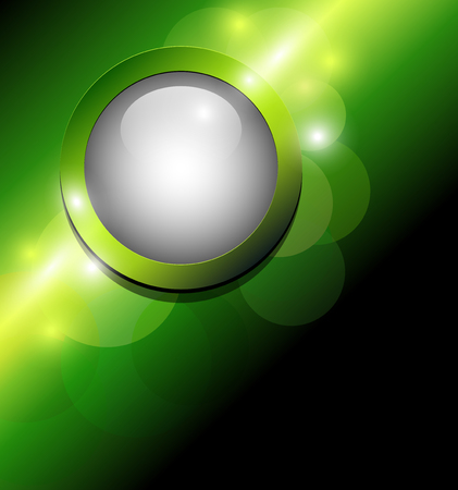 Abstract background green with 3d button  Vector