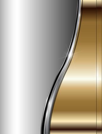 Astratto business sfondo lusso oro metallico, vettore.