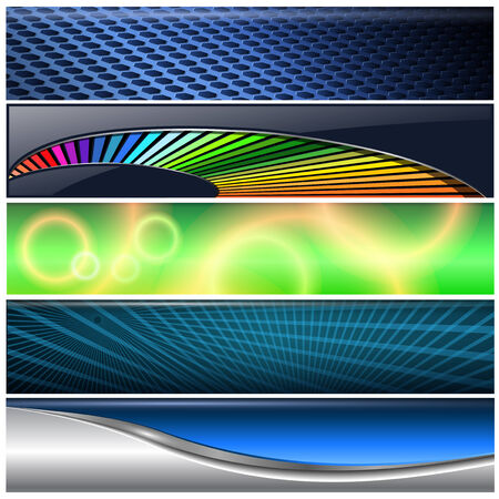 vector banners or headers: Banners, headers colorful internet backgrounds set, vector.
