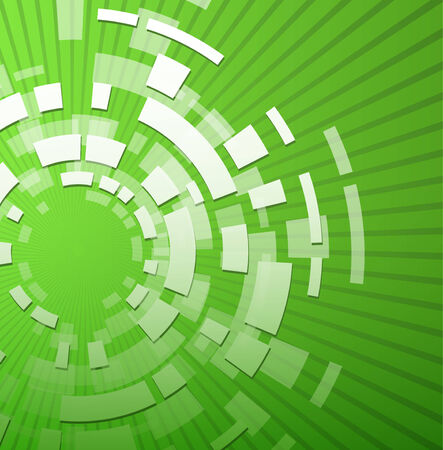 radial: Abstract green technology background, vector illustration.