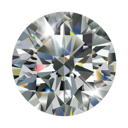 the caustic: Diamond, realistic vector illustration.