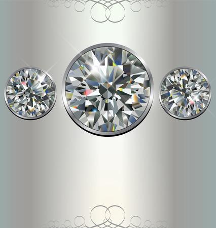 Luxury background with diamonds, vector. Stock Vector - 9088798