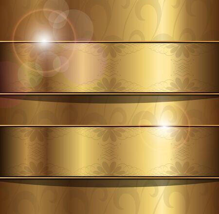 ornaments vector: Abstract background oro con ornamenti floreali, vettoriale. Vettoriali