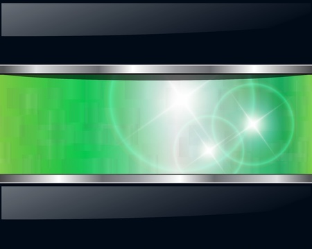 Abstract background green lights. Vector illustration. Stock Vector - 9147984