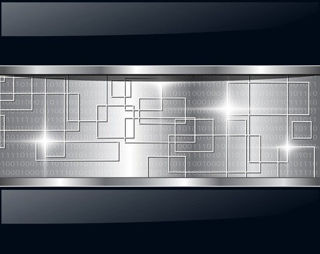 Technologie métallique de contexte abstrait. Illustration vectorielle.