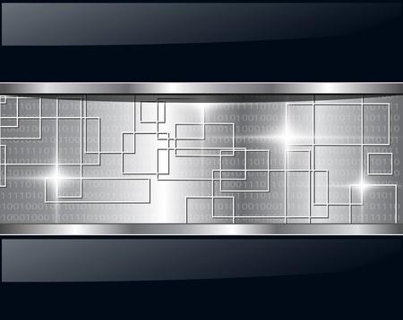 Tecnología metálico de fondo abstracto. Ilustración vectorial.