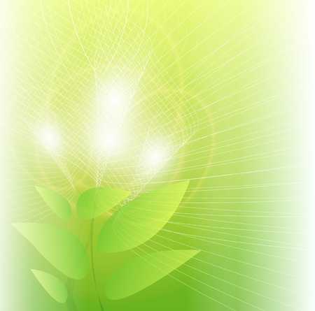 Abstract background fantasy flowers with glowing lights, vector. Stock Vector - 9147990