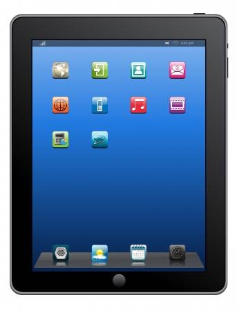 Tablet PC-computer & mobiele telefoon, vector.