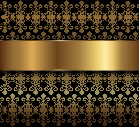 Background with floral ornaments, vector transparency. Vector