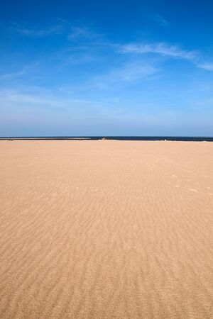 grand strand: Empty beach scene with room for your text. Perfect for cover art Stock Photo