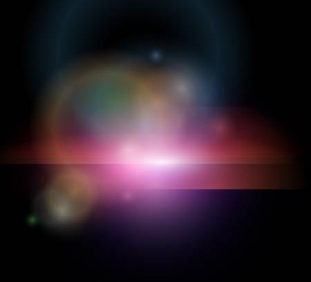 Stylized abstract background with glowing stars, vector. Stock Vector - 9256970