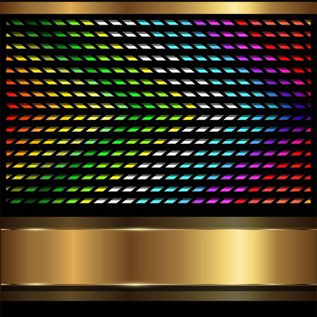 black metallic background: Abstract background rainbow lines  Illustration