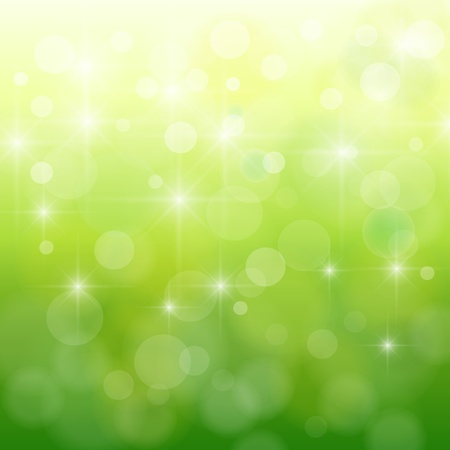 Abstract background, nature bokeh blurry lights, vector. Vetores
