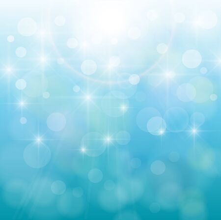 Abstract background, nature blue bokeh, vector. Stock Vector - 9328777