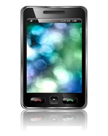 Mobile phone, modern smartphone. photo