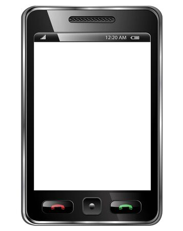 Mobile phone, modern smartphone isolated. photo