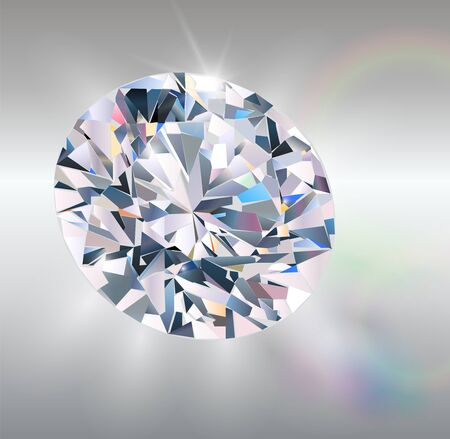Diamond, realistic  Stock Vector - 9398161