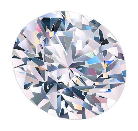 millonario: Diamante aislado y realista  Vectores