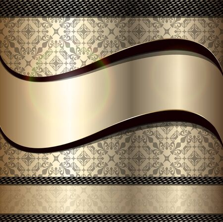 Abstract background luxury gold Vector