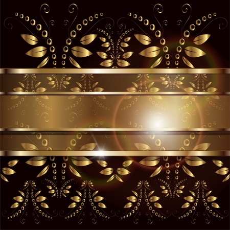 Background with floral ornaments Vector