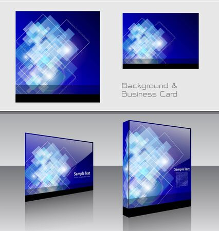 Background, business card and packaging box Vector