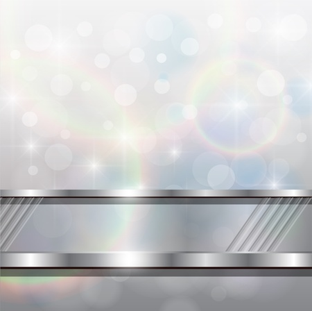 Abstract background, silver blurry lights, vector. Stock Vector - 9440974