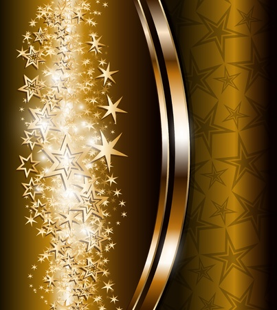 Elegant abstract background with gold stars