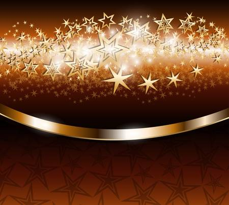 Elegant background with gold stars Stock Vector - 9507156