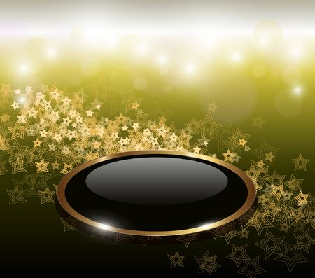 Elegant abstract background with gold stars Vector